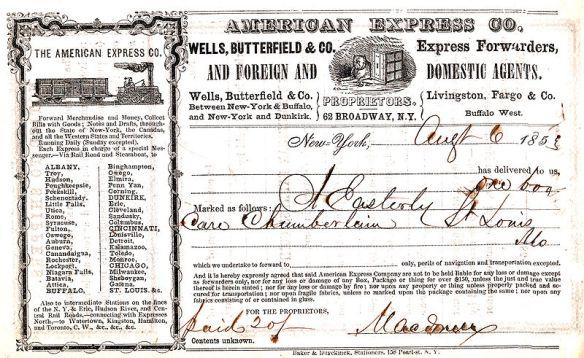 1860/'s Wells Fargo STAGE LINES Original Stagecoach Receipt