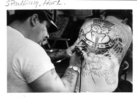 A little history of the early american style tattoo pt 2 for Spaulding rogers tattoo