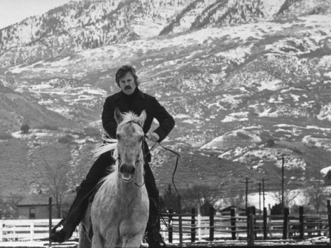 john-dominis-actor-robert-redford-exercising-one-of-his-eight-saddle-horses-on-his-remote-mountain-ranch